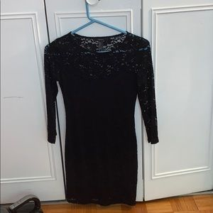 Black lacy minidress